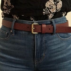 Loft Brown Leather Belt